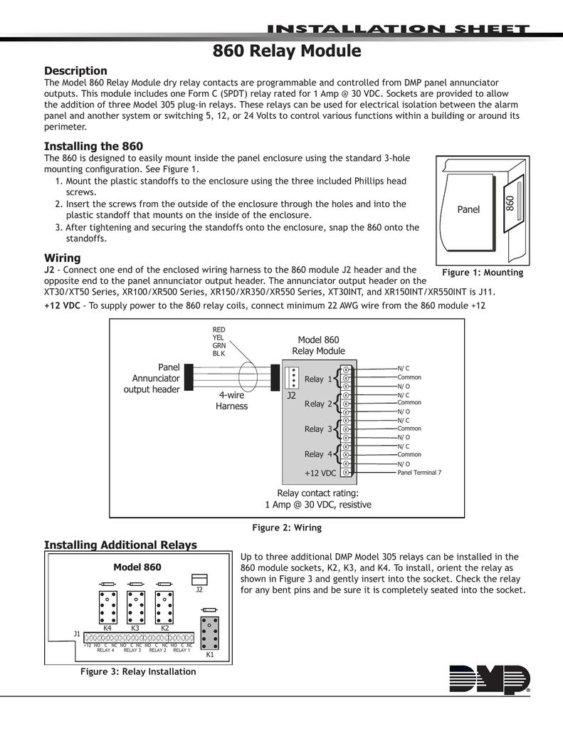DMP Relay Output Module Installation Guide Manualzzcom - Dmp xt30 wiring diagram