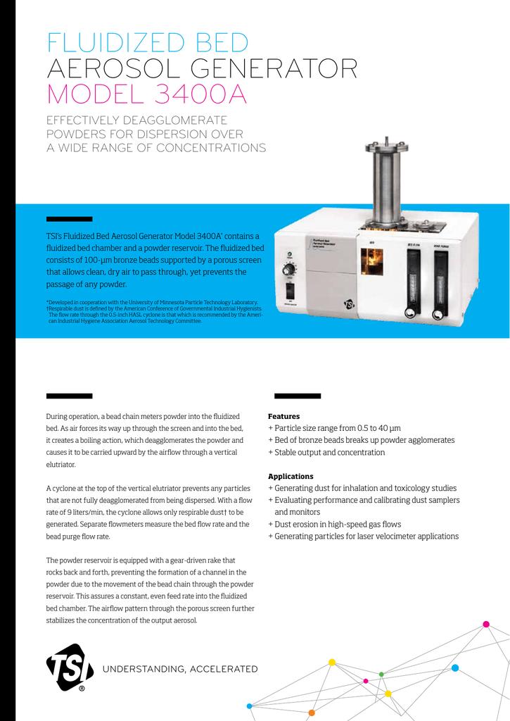 Model 3400A Fluidized Bed Aerosol Generator (A4)   manualzz com