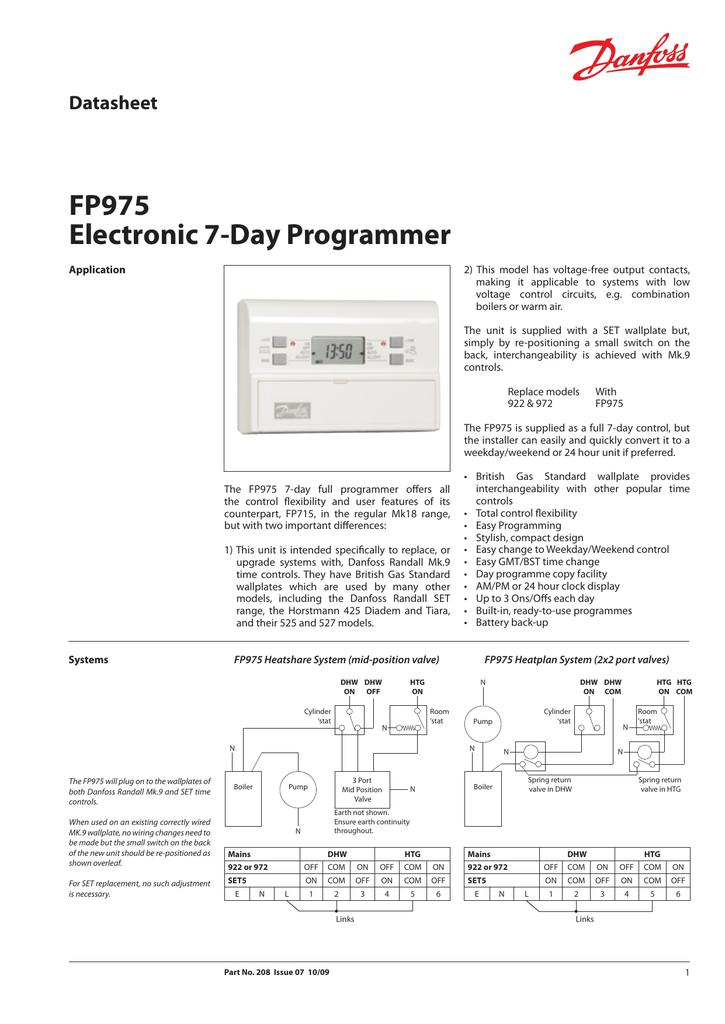 Danfoss Randall FP975 Programmer