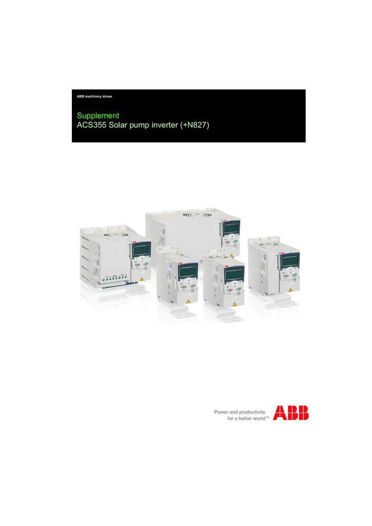 abb acs355 wiring diagram abb solar pump inverter supplement acs355 manualzz  inverter supplement acs355