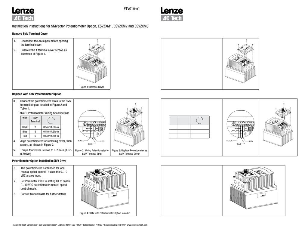 Esvzxm Ac Potentiometer Wiring