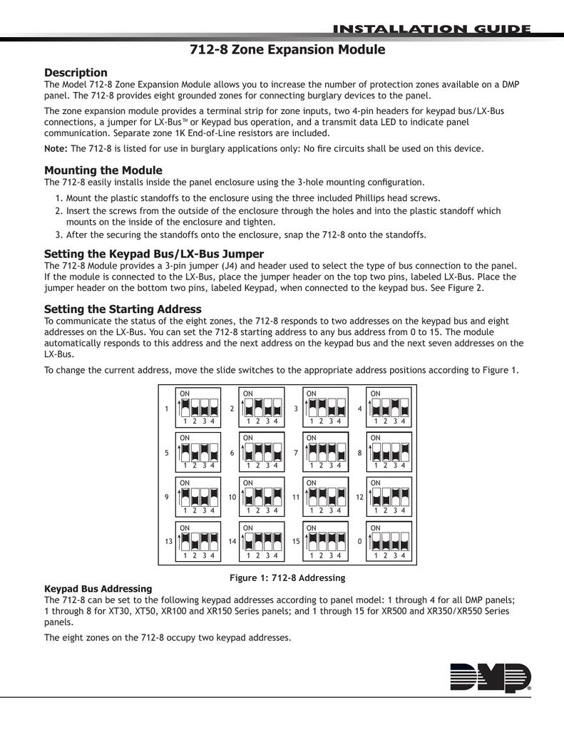 DMP Zone Expansion Module Installation Guide Manualzzcom - Dmp xt30 wiring diagram