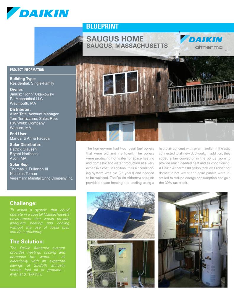Saugus Home (Saugus, MA) - Daikin Altherma Split System