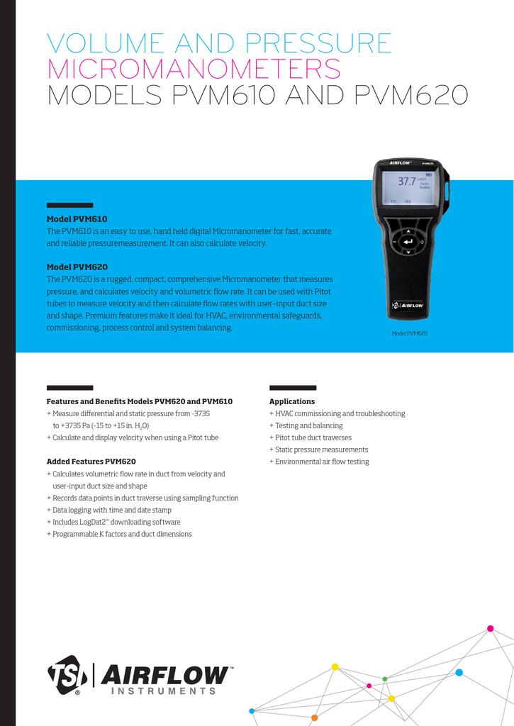 PVM Micromanometer Datasheet (GB) | manualzz com
