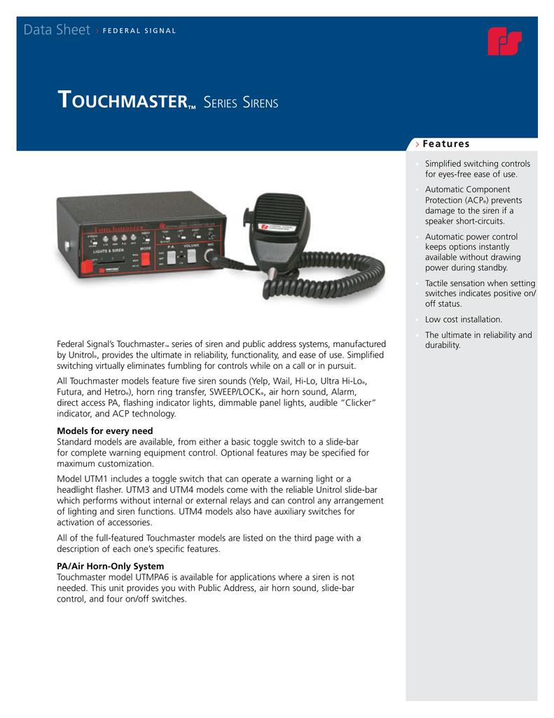 Unitrol Touchmaster Wiring Diagram - Wiring Diagrams on