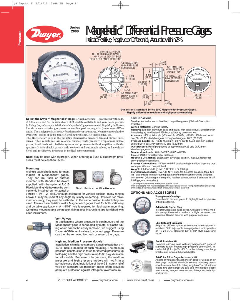 Dwyer A-321 Pressure Relief Valve