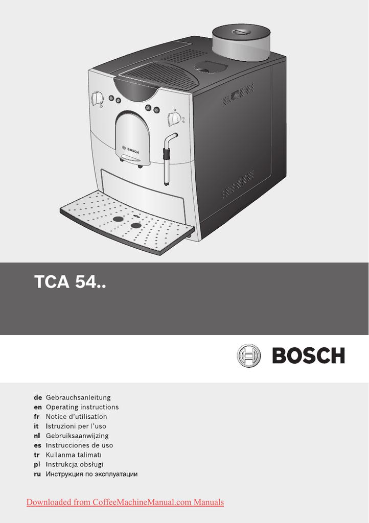 Bosch Tca 5401 User Guide Manual Pdf Manualzz Com