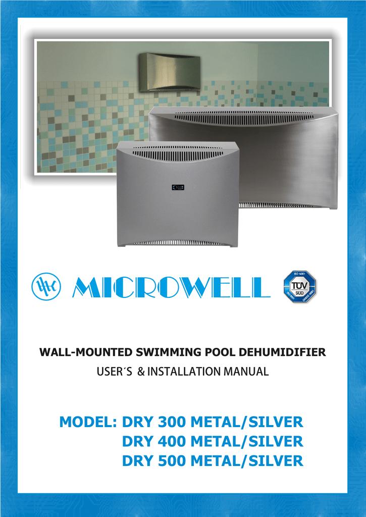 Swimming pool dehumidifier DRY 300/400/500 METAL/SILVER ...