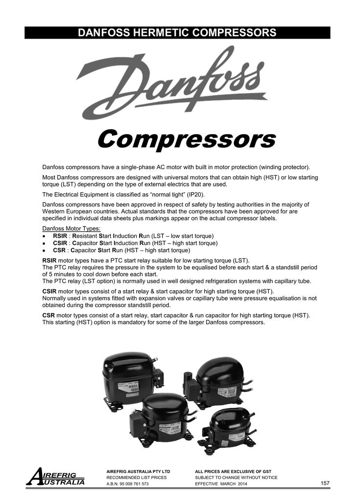 Danfoss Recip Compressors | manualzz.com on