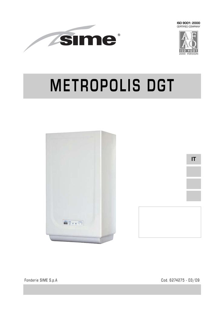 SIME caldaia METROPOLIS DGT 2   manualzz.com