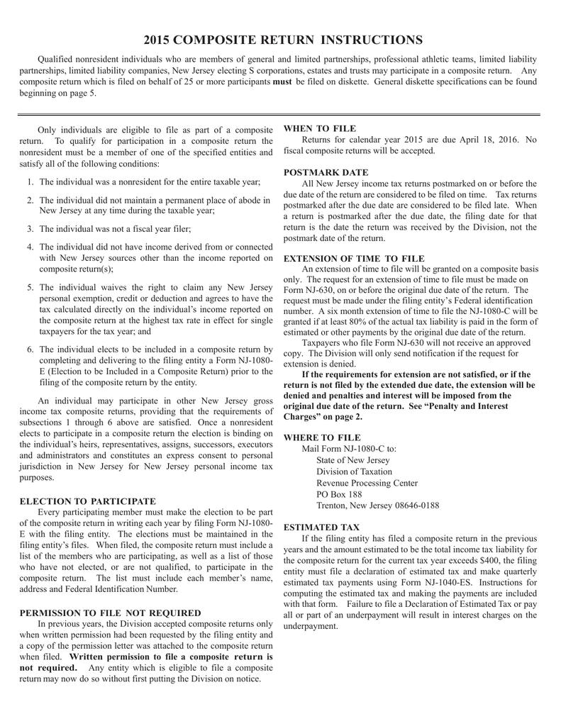 Instructions For The Nj 1080a Nj 1080b Nj 1080c And Nj Manualzz