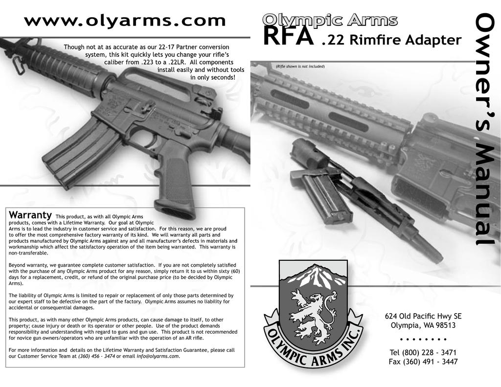 Olympic RFA Rimfire Adapter | manualzz com