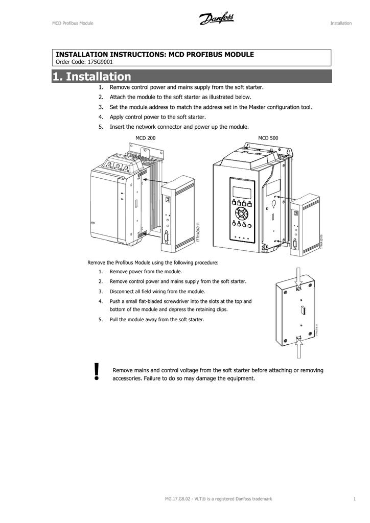 danfoss mcd 202 manual