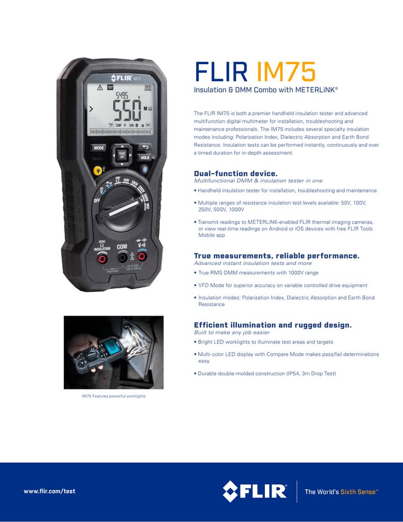 FLIR IM75 Insulation DMM Combo Datasheet | manualzz com