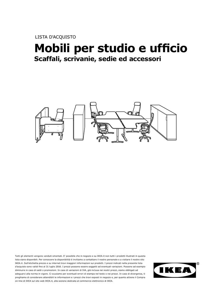 Ikea Accessori Per Ufficio.Mobili Per Studio E Ufficio Scaffali Scrivanie Sedie Ed