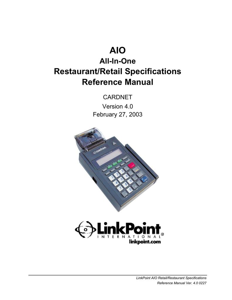 AIO Retail and Restaurant Reference Manual PDF | manualzz com