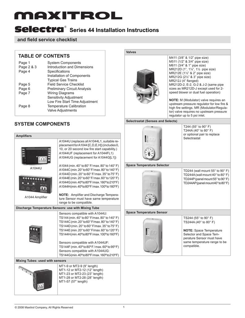 Series 44 Installation Instructions | manualzz com