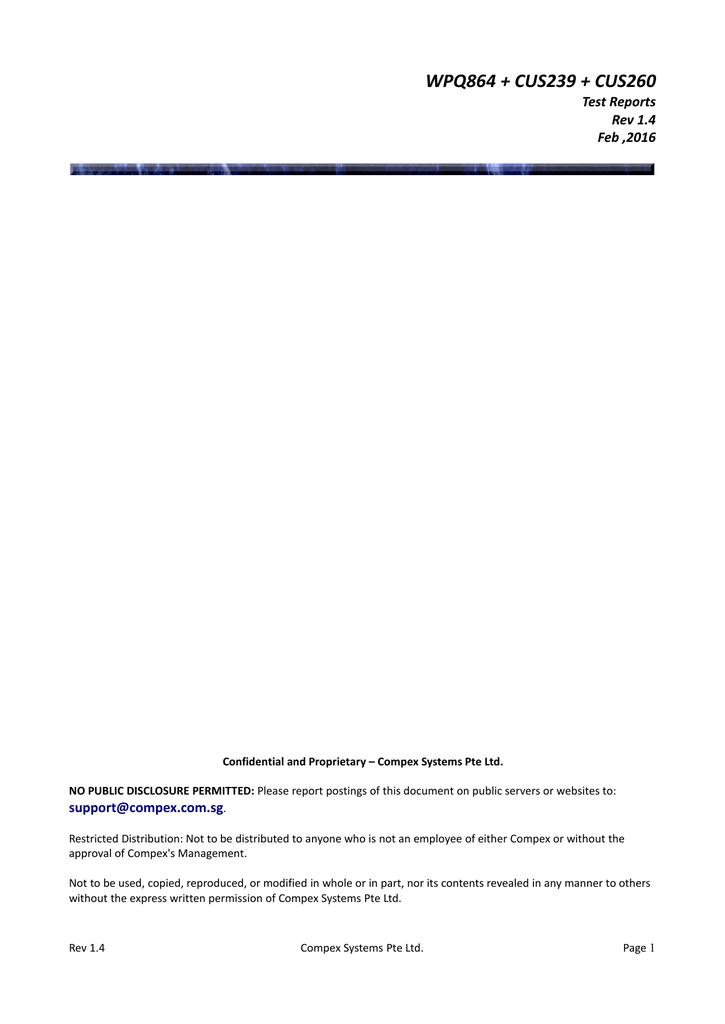 WPQ864_Test_Report_V1_4 | manualzz com