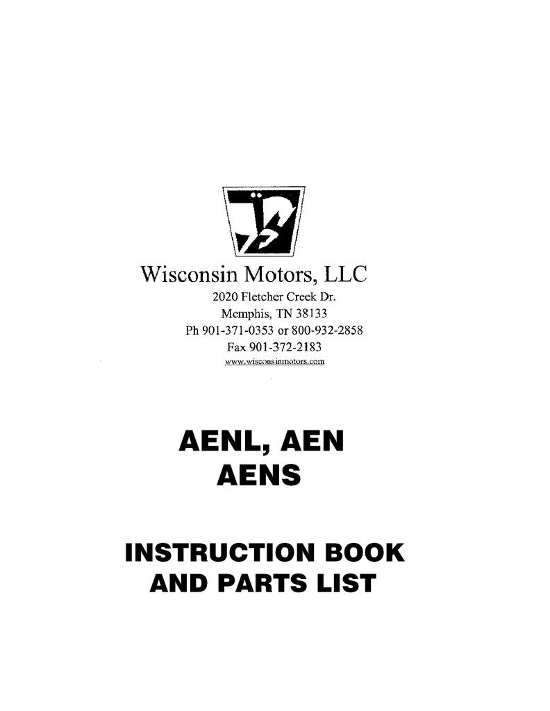 Wisconsin AEN, AENL, AENS engines parts manual | Manualzz | Wisconsin Engine Parts Diagram |  | manualzz
