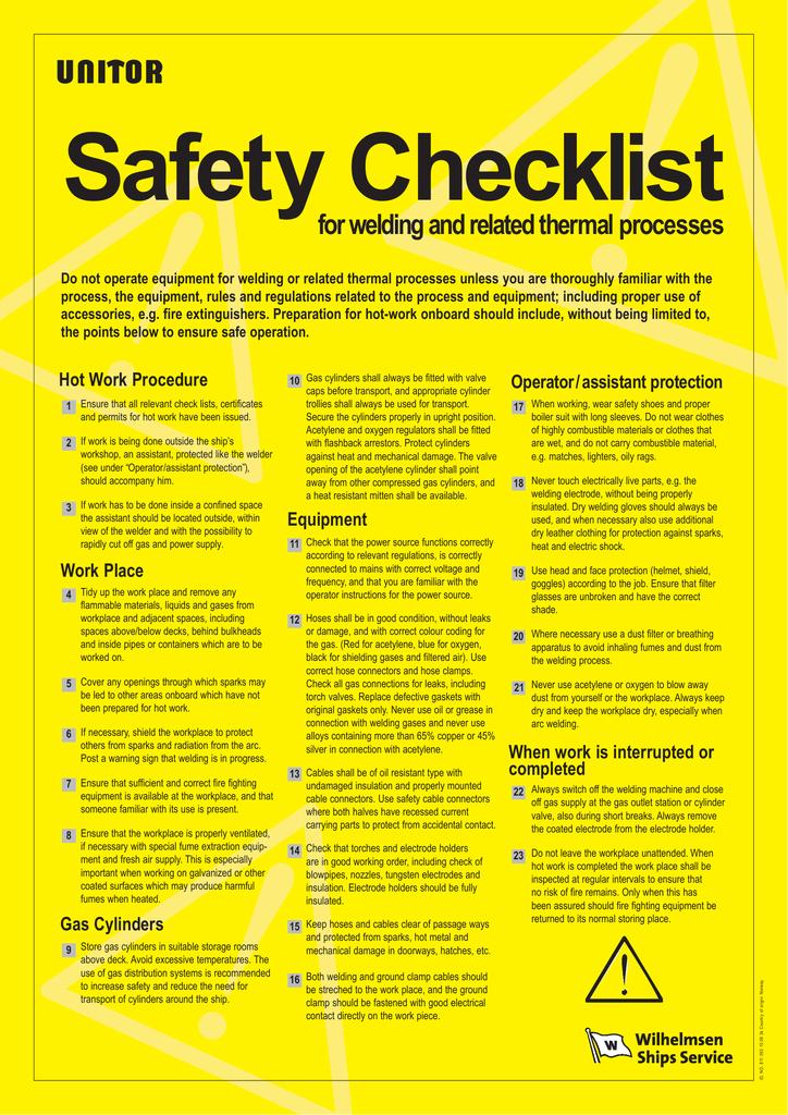 811053-Safety Checklist-ENG | manualzz com