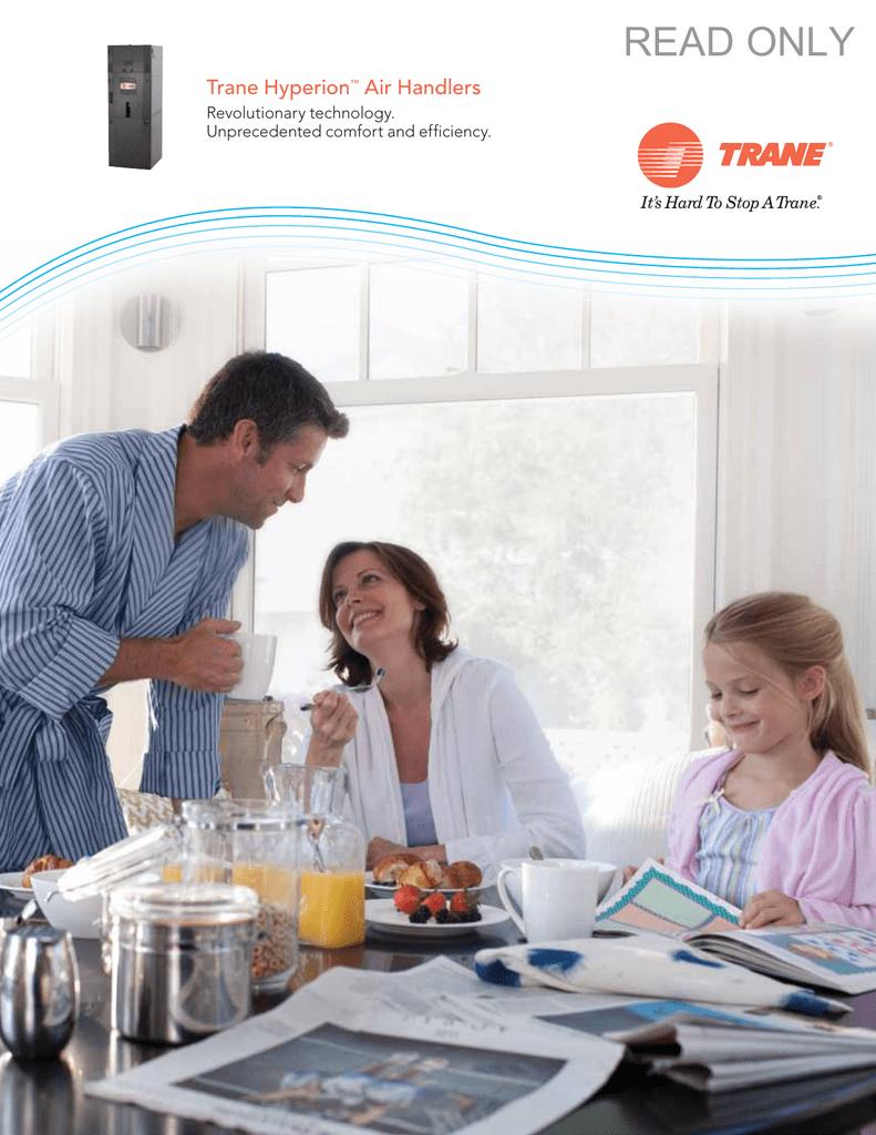 Trane Hyperion Air Handlers Consumer Brochure   manualzz com