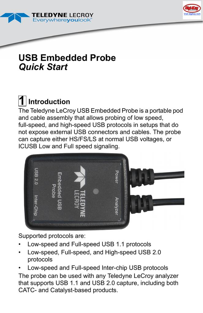 USB Embedded Probe Quick Start   manualzz com