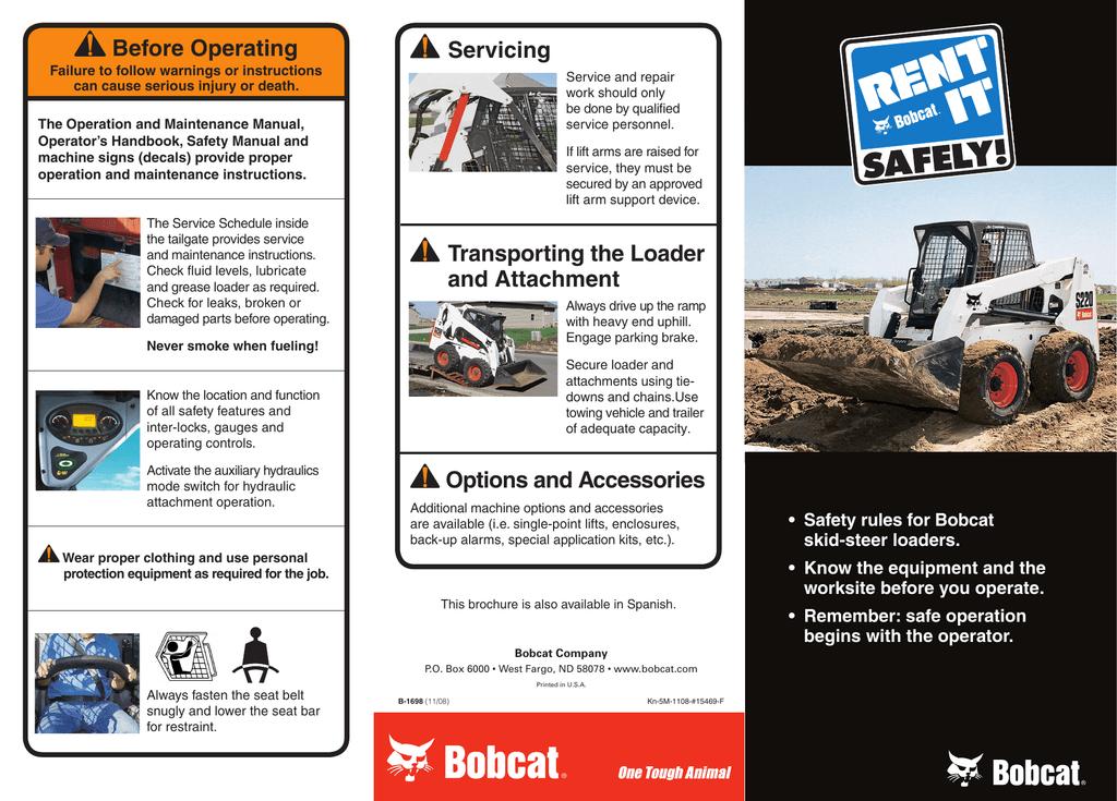 Safety Informaton from Bobcat Bobcat_Rent_It_Safely___