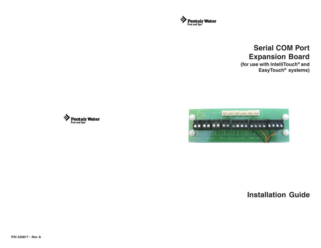 Autre Pentair Serial COM Port Expansion Board : guide d