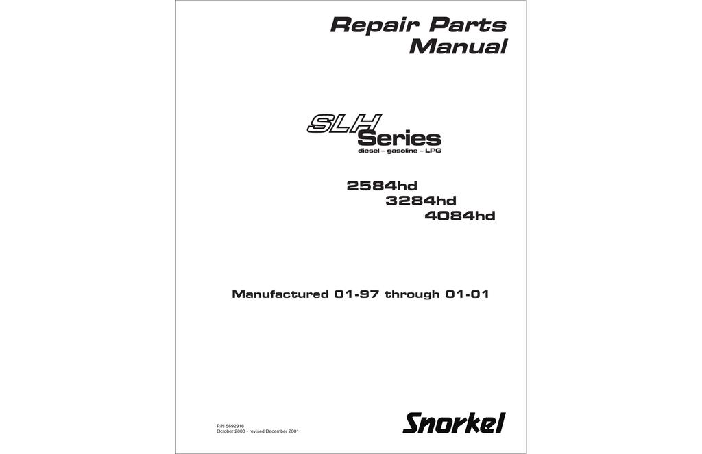 series repair parts manual 2584hd manualzz com