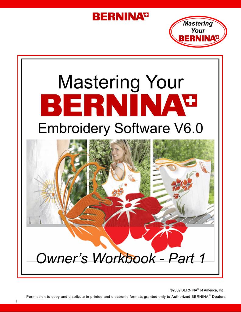 Bernina Embroidery Software Version 6 Part 1 Manualzz