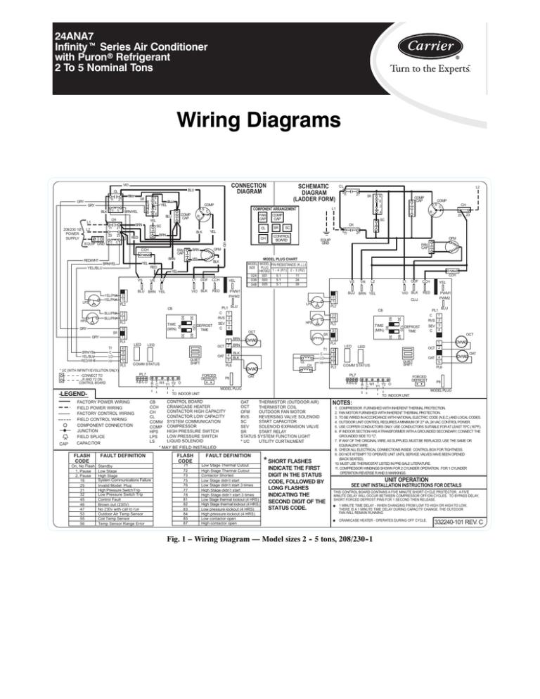 24ana7-2w revefrsing compressor | Manualzz | Refrigeration Wiring Diagram 5 Ton |  | Manualzz