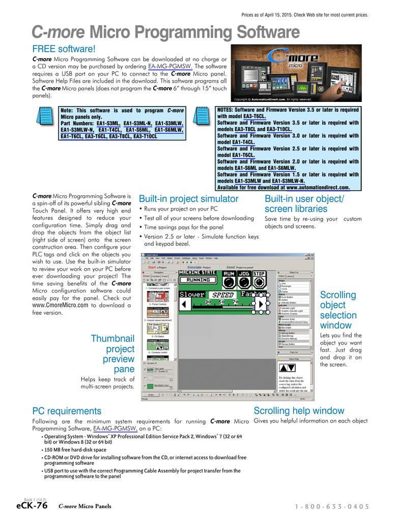 C-more Micro Configuration Software Overview | manualzz com