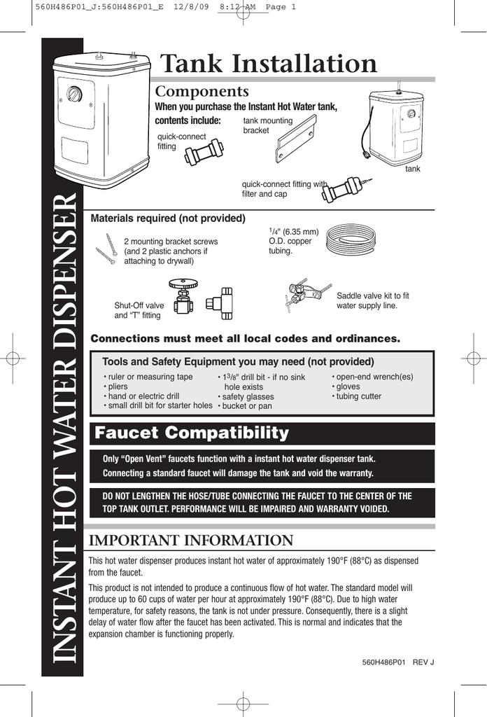 quick hot ah1300c instant hot water dispenser manual