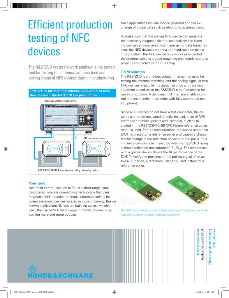 Efficient production testing of NFC devices | manualzz com