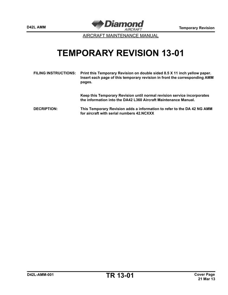 temporary revision 13 01 aircraft maintenance manual manualzz com rh manualzz com amm aircraft maintenance manual definition amm aircraft maintenance manual boeing