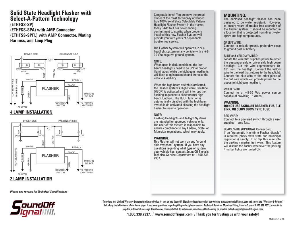 SoundOff Signal Select-A-Pattern Solid State Flasher by SoundOff