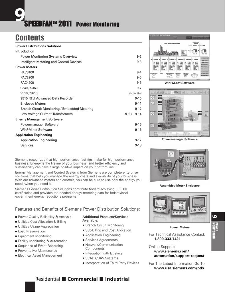 Siemens SENTRON PAC3100 Meter Compression Terminals AC//DC