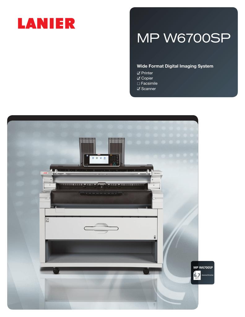 MP W6700SP 6 7 Wide Format Digital Imaging System Printer | manualzz com