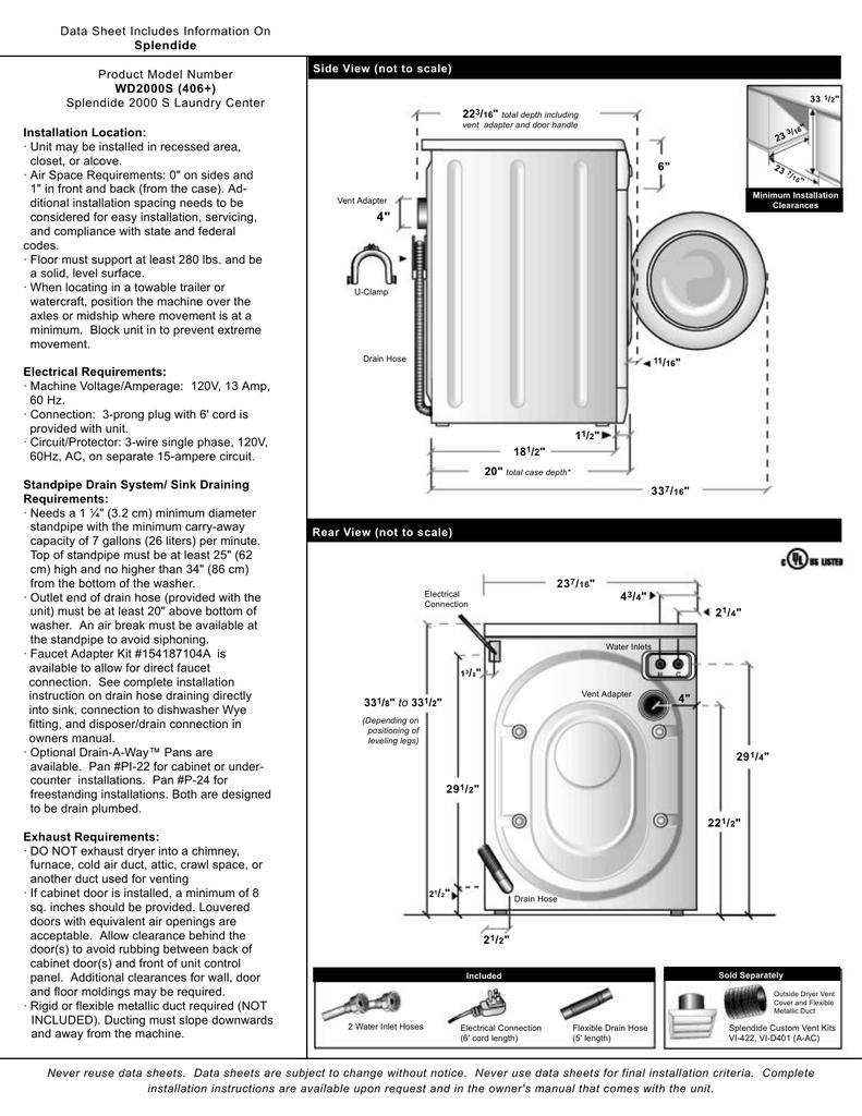 Splendide 2000S Installation Data Sheet | Manualzz | Splendide Wiring Diagram |  | Manualzz
