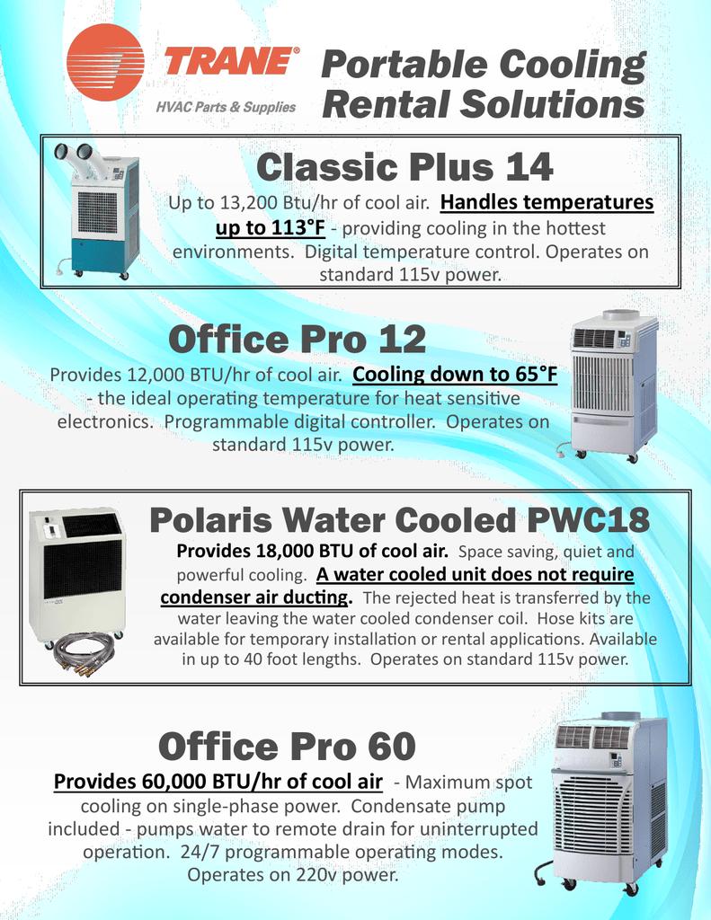 Tampa Bay Trane Portable Cooling Rental Solutions | manualzz com
