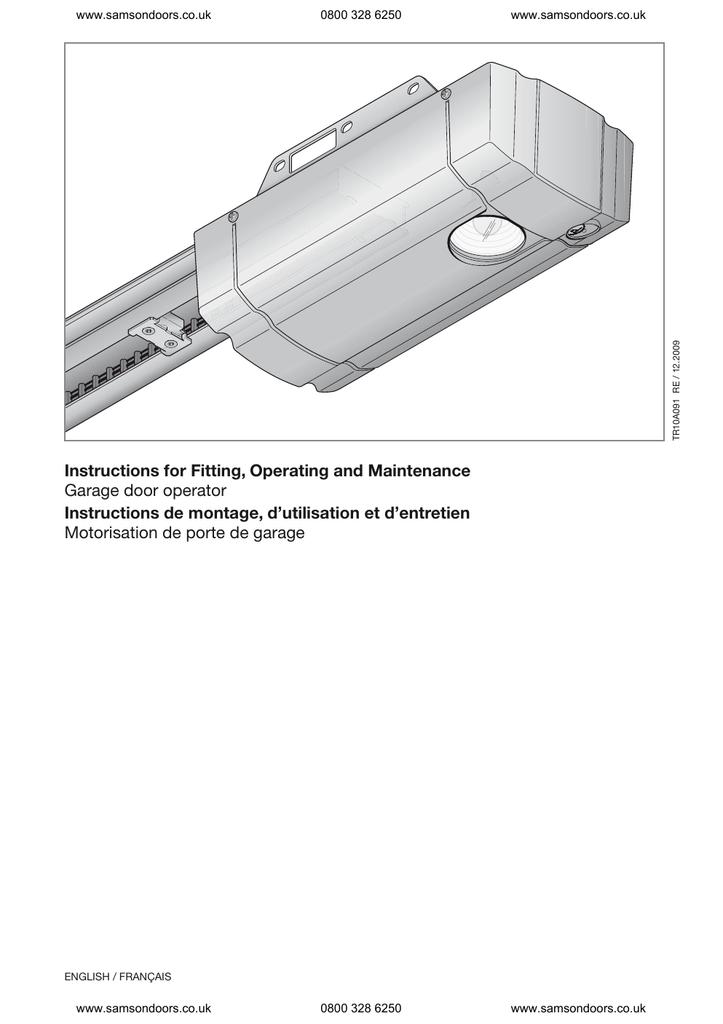 Hormann Turbo 75 Installation Instructions Manualzz