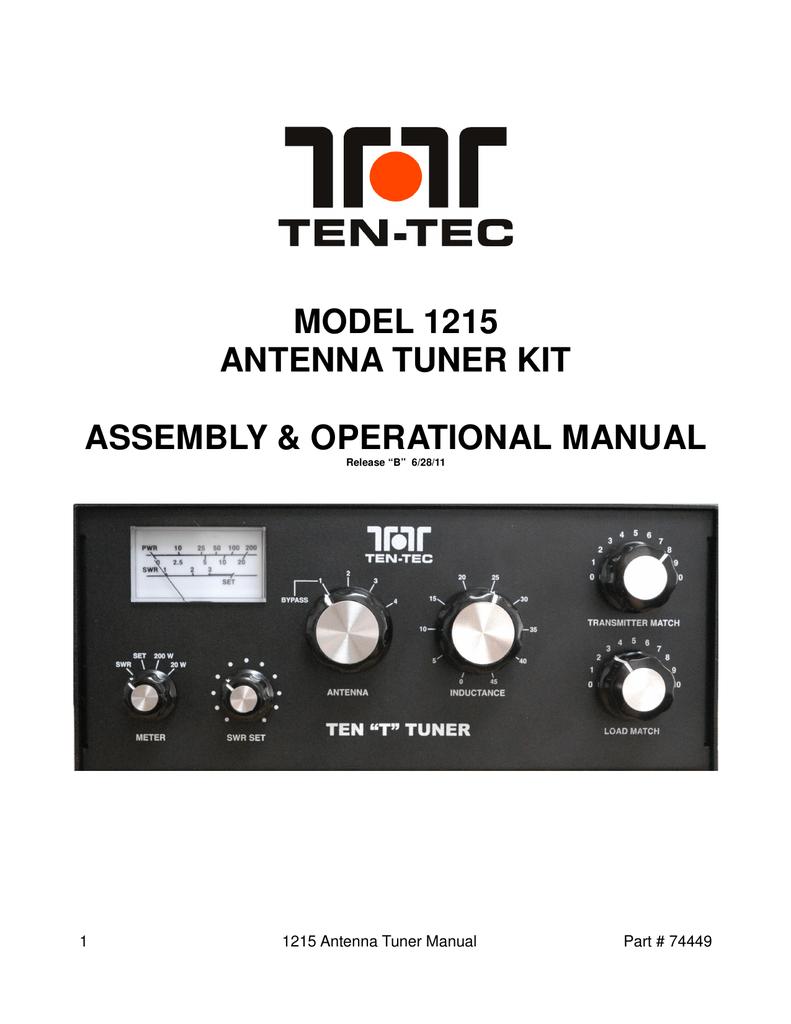 Ten-Tec_1215_user | manualzz com
