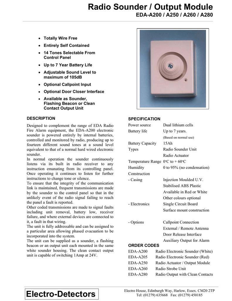 Electro Detector EDA-A200 Radio Millenium Electronic Sounder White