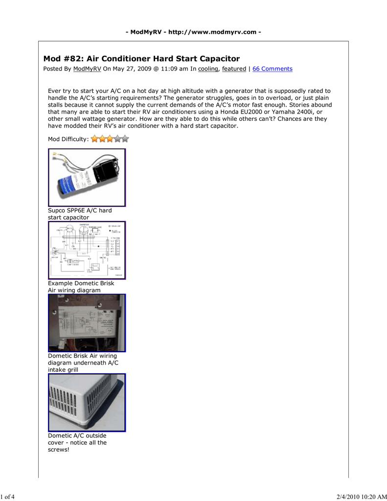 Hard Start Capacitor   Manualzz   Spp6e Hard Start Capacitor Wiring Diagram      Manualzz