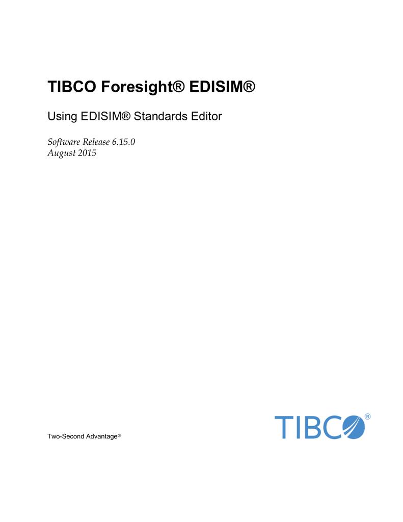 Using EDISIM® Standards Editor | manualzz com