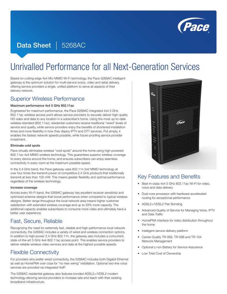 Data Sheet VDSL Gateway 5268AC Data Sheet   manualzz com