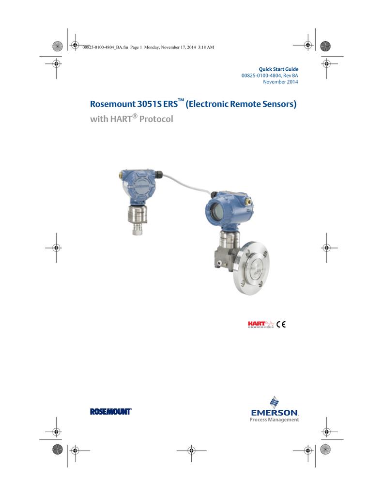 Quick Start Guide: Rosemount 3051S Electronic Remote Sensors with HART®  Protocol | Manualzz | Wiring Diagram Rosemount 3051s |  | manualzz