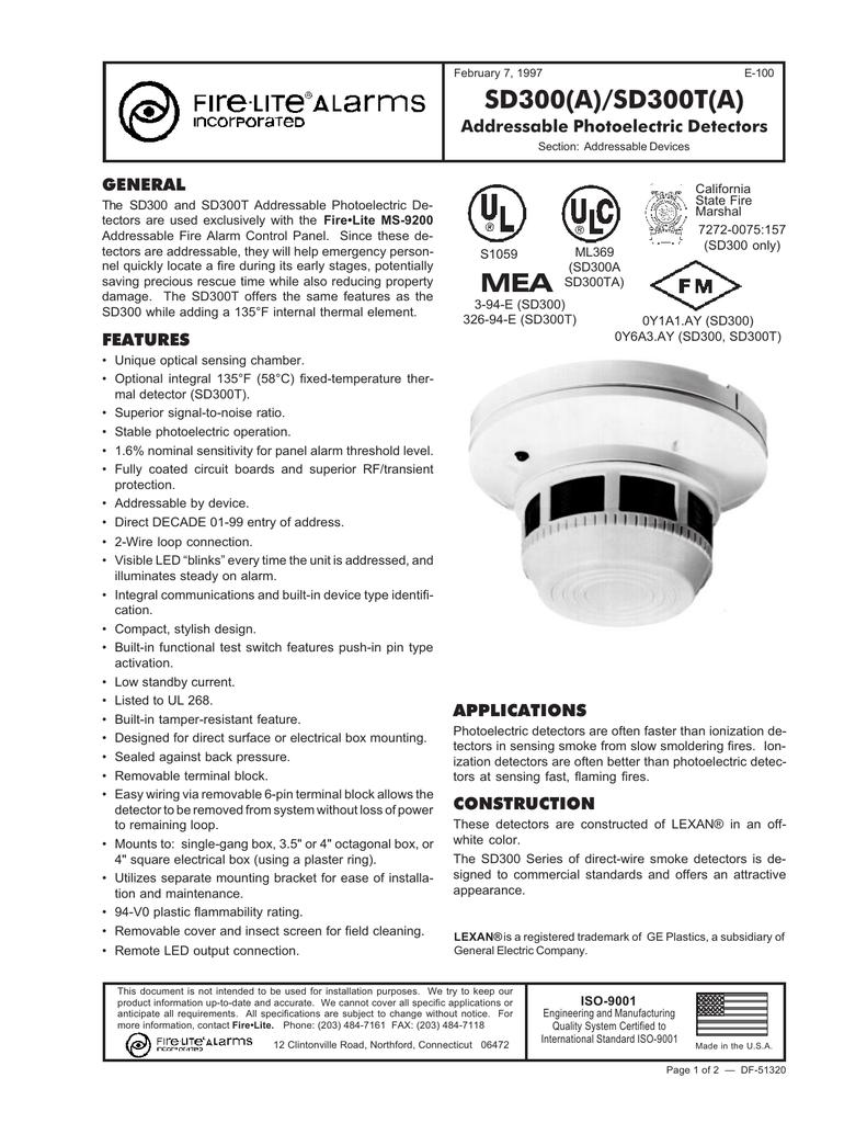 SD300 Smoke Detector | manualzz com