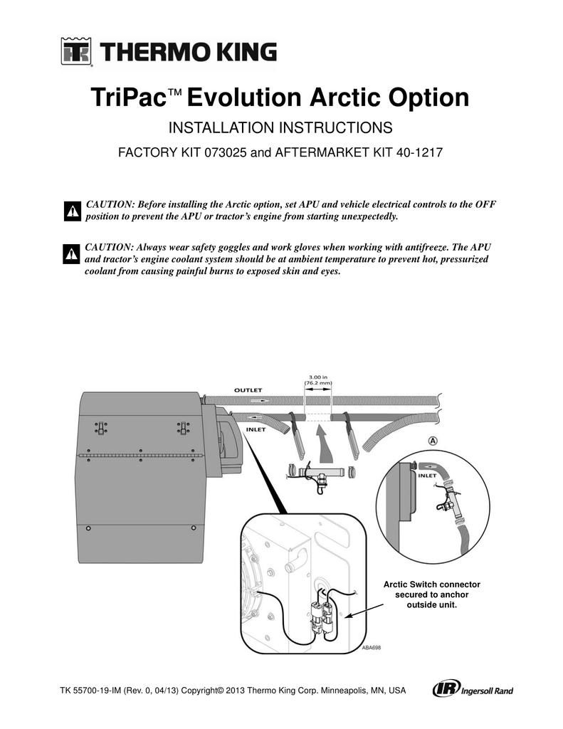 TriPac Evolution Arctic Option ™ INSTALLATION INSTRUCTIONS