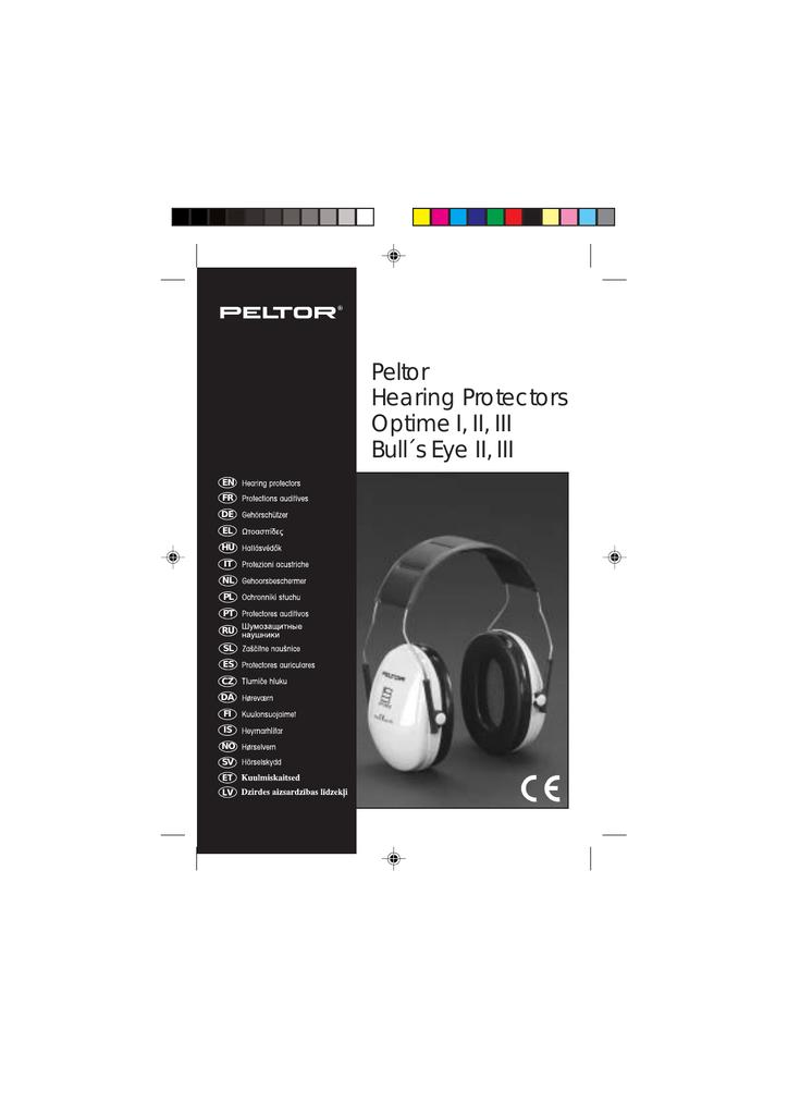 18fc53bb8 Peltor Hearing Protectors Optime I, II, III Bull´s Eye II, III ...